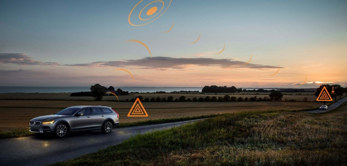 Volvo cars to share data on slippery road conditions and hazards