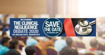Clinical Negligence Debate 2020 confirmed