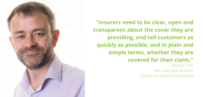 Covid-19 - Jeremy Trott of Society of Claims Professionals on what insurers should be doing for all insurance stakeholders and PQ 2